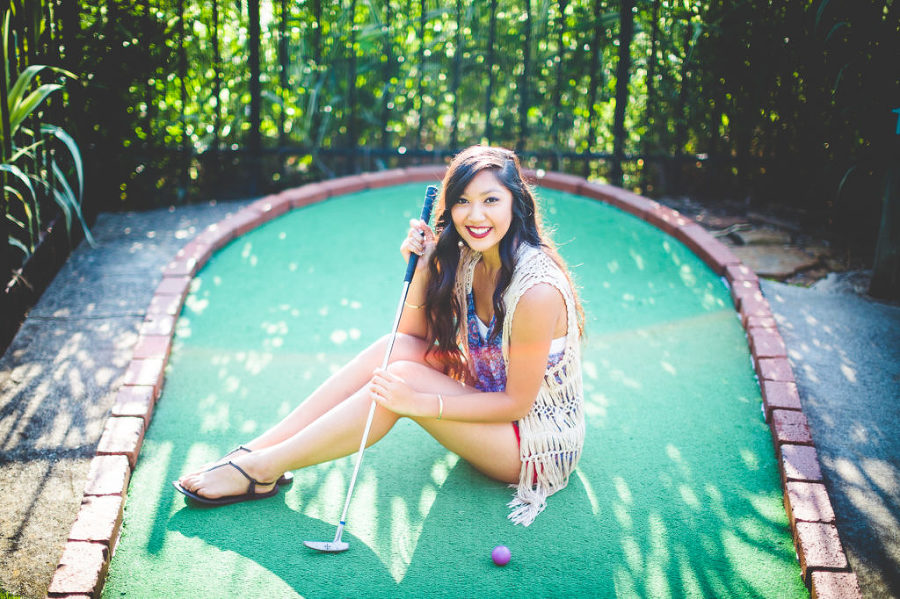 NWA Senior Photographer, Mini Golf Senior Session