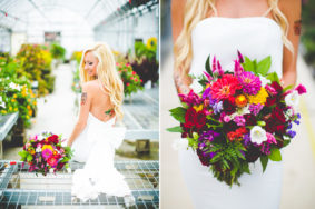 Creative Bridal Session, Bright and Bold Wedding Flowers, lissachandler.com