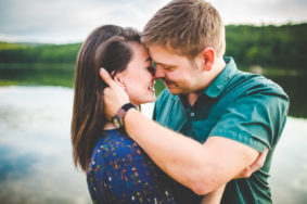 Outdoor Summer Engagements by Lake
