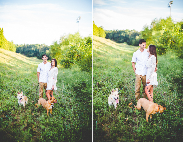 Happy Engagement Photographs in the Fall, lissachandler.com