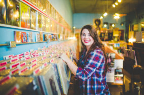 Senior Photographs in a Record Store, lissachandler.com