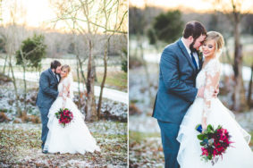 Snowy Wedding at Sassafras Springs in Springdale, lissachandler.com