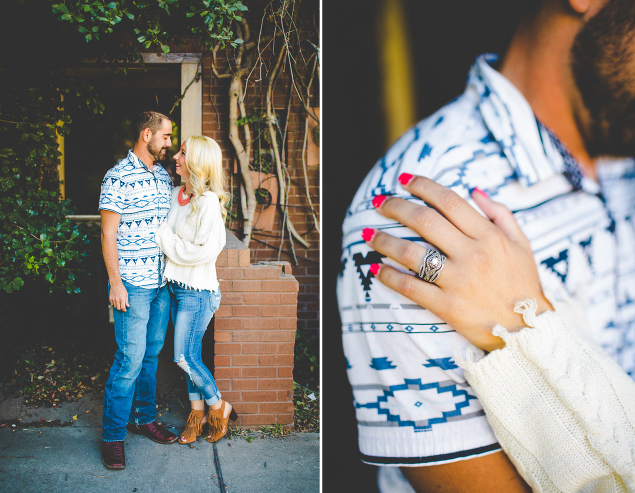 Fall Engagement Photographs by NWA Wedding Photographer Lissa Chandler   Close up of ring