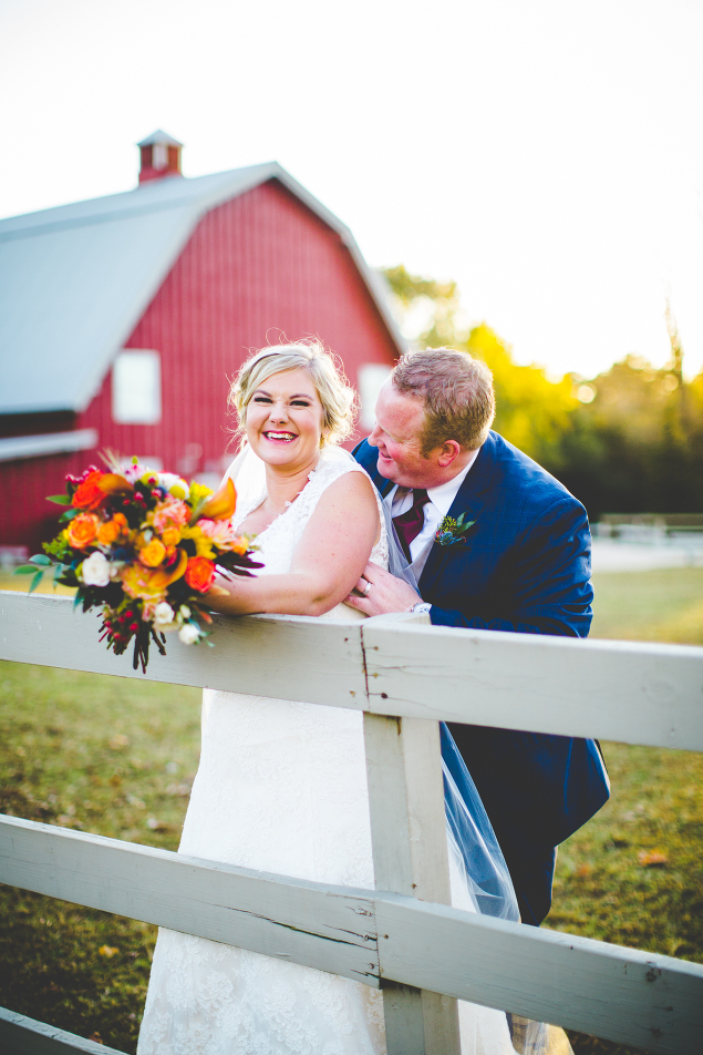 Fall Wedding at Pratt Place Inn and Barn, Sunset Bride and Groom Photographs | Lissa Chandler Photography